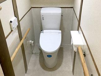 トイレリフォーム 費用を抑えながらも掃除しやすくしたトイレ